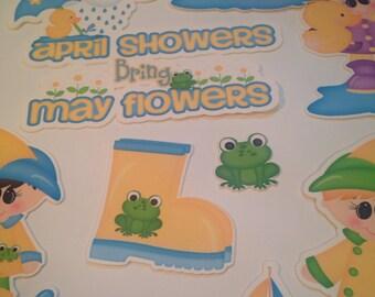 April Showers Bring May Flowers Die Cuts