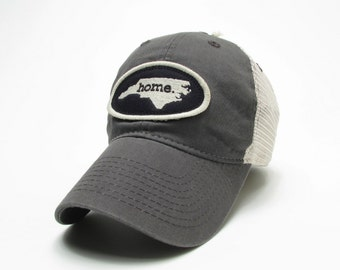 Homeland Tees North Carolina Home State Trucker Hat - Gray Relaxed Twill