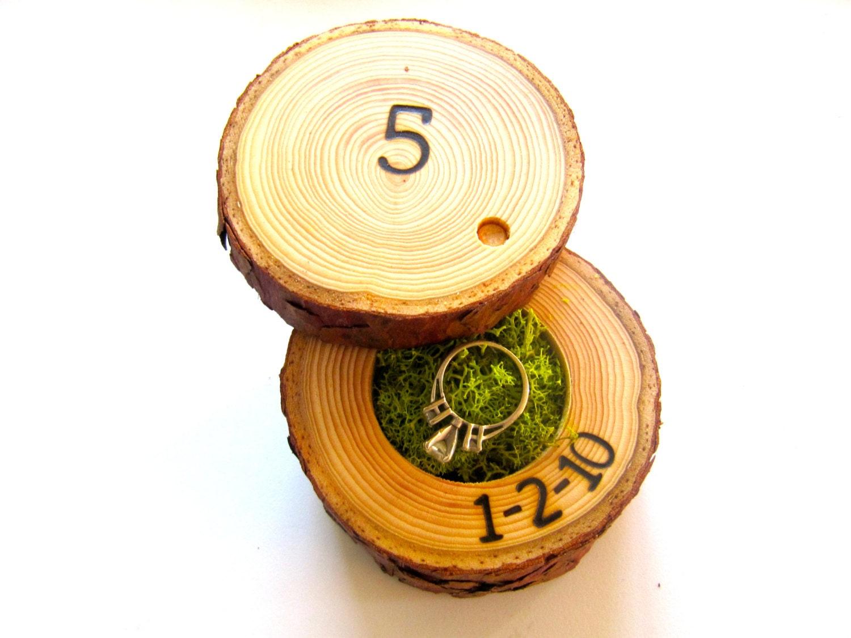 5th Anniversary Gift Wood Anniversary Ring Box