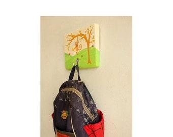 Kids Peg rack Coat Hanger, Towel Rack, Nursery coat rack , Baby shower gift - Nursery Gift