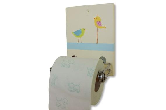 Toilet paper holder bathroom decor singing birds design for Design your own toilet paper