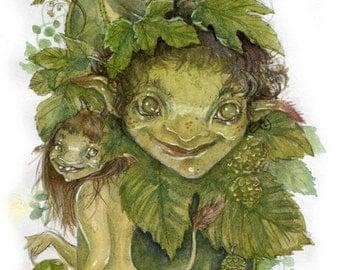 Hops  - fairy art print