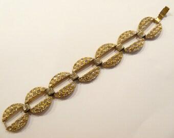 Lovely Vintage Art Deco Rhinestone Link Bracelet