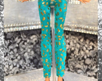 Monster Doll 2015 Couture Closet: Teal and Gold High Fashion Leggings SALE!!!