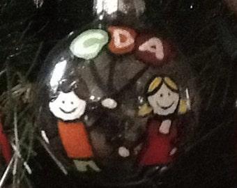 Custom made Dental Office logo christmas ornament