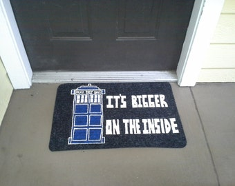 Tardis Welcome Mat New Look