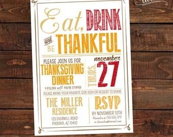 Thanksgiving Invitation PRINTABLE