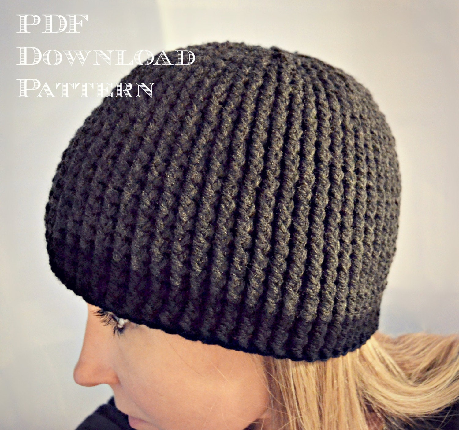 Crochet Pattern Hat Beanie : CROCHET PATTERN-Gavin Guy Beanie Crochet hat by ...