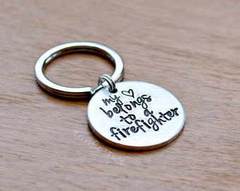 My Heart- Hand Stamped Personalized Key Chain