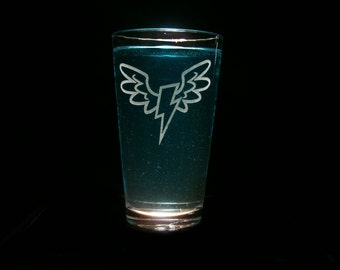 Wonder Bolts Male Emblem - Pint Glass