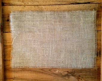 No Sew Burlap Place Mat