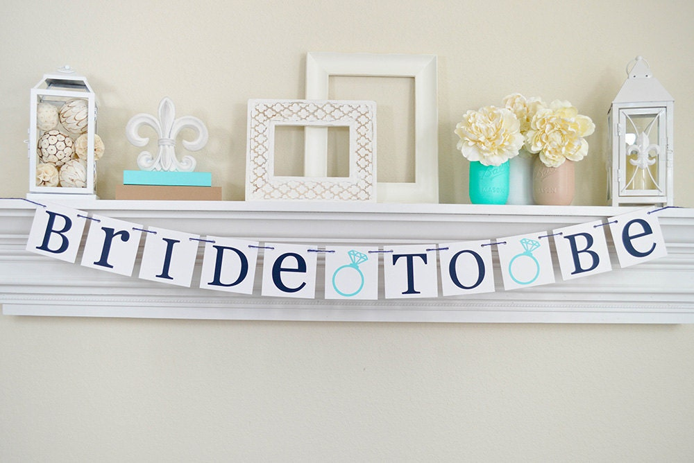 Bride To Be Banner Bridal Shower Decorations Bridal Shower