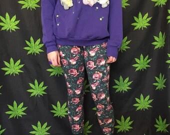 90s Floral Leggings