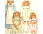 Girls, Dress Pattern, Gown Pattern, Apron Pattern, Pinafore, Pattern, Size 5, Uncut, Ruffled, McCalls 7833, Sewing Pattern, Vintage