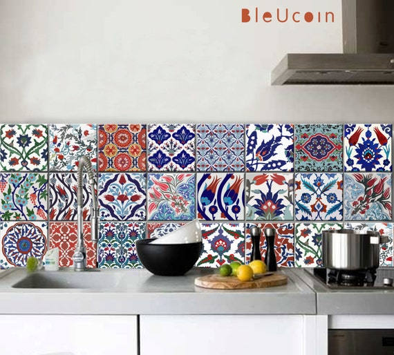 kitchen bathroom turkish tile wall decals 22designs x 2 portugal tiles stickers wels set of 16 tile decals for