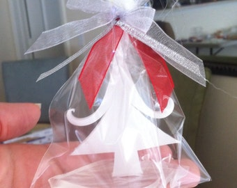 Winter White Tree Soap - Winter Wedding Favors - Christmas Party Favors, Baby Shower Favors - Gifts Under 5