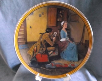 "Vintage Knowles Norman Rockwell Collectors plate 1987 "" Portrait for a Bridegroom"""