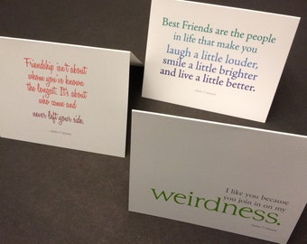 The Best Friend Collection: Quotes describing you and your best friend in notecards