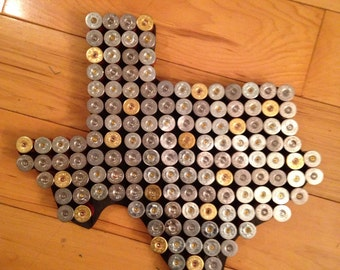 Shotgun shell Texas man cave wall hanger hunting art