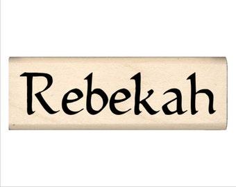 Name Rubber Stamp for Kids  - Rebekah