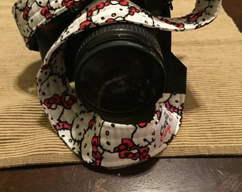 Camera Strap - Handmade - Hello Kitty