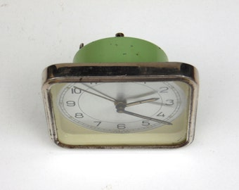 Vintage Green Alarm Clock - Hungarian Foreign