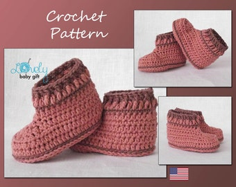Crochet Booties Pattern, Baby Shoes Crochet Pattern, Girl Booties, Booties Crochet Pattern, Instant Download, CP-204