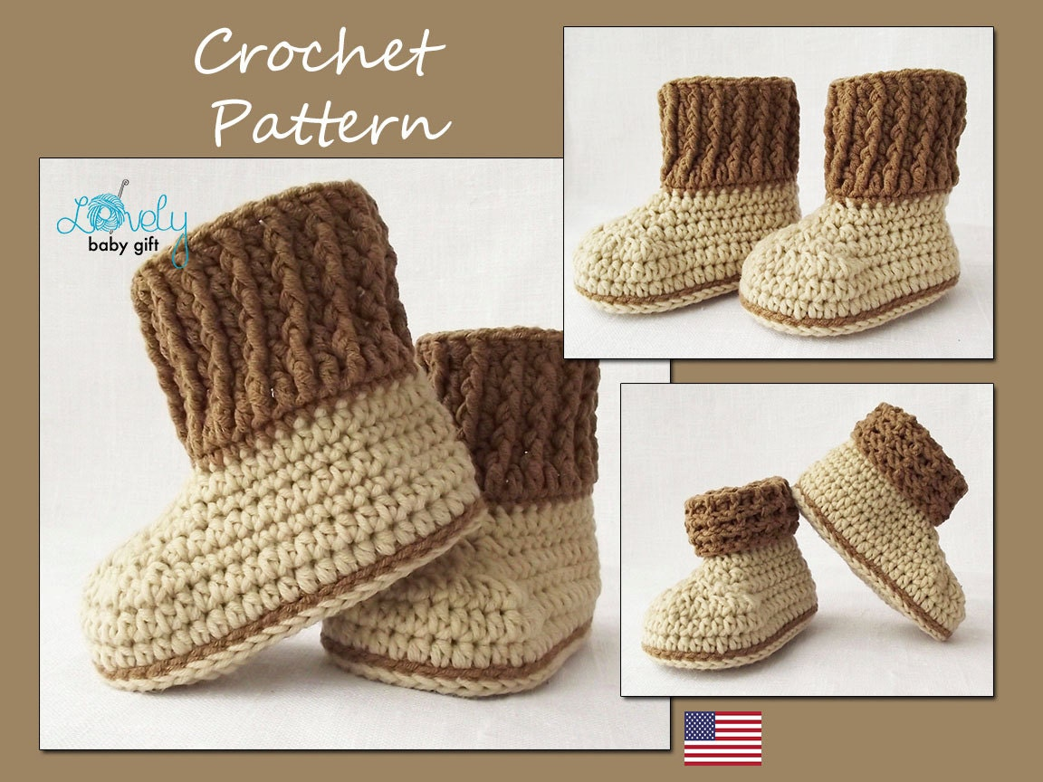 Crochet Pattern Baby Booties Orchid Sandals : Baby Booties Crochet Pattern Shoes Crochet Pattern Instant