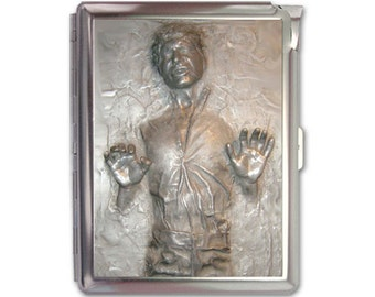 Han Solo Carbonite Cigarette Case Lighter Wallet Business Card Holder