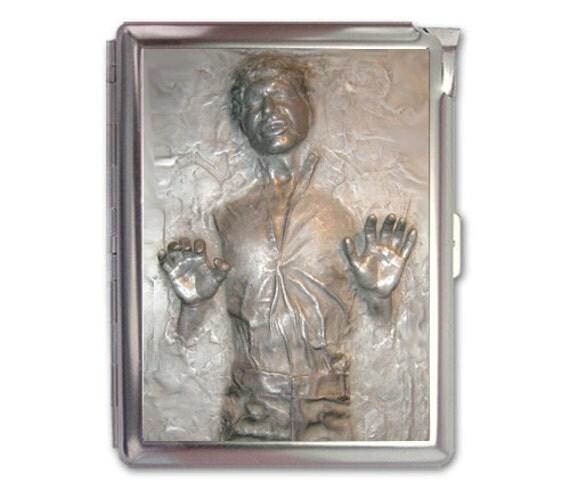 Han solo carbonite cigarette case lighter wallet business card for Han solo carbonite business card holder