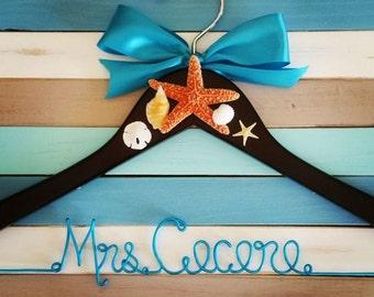 Beach Wire Wedding Hanger
