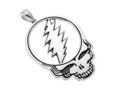 Grateful Dead,  Steal Your Face Pendant (Small) in Sterling Silver