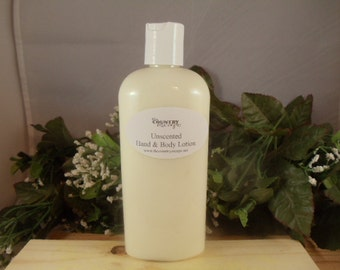 Unscented Hand and Body Lotion- Rich and Creamy -Super Moisturizing w/Jojoba Oil-Shea Butter - Dry Skin Therapy