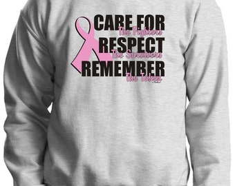 Care For the Fighters (Breast Cancer Awareness) Crewneck Sweatshirt 18000 - CA-230