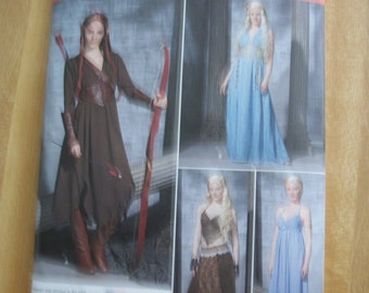 Simplicity 1347 Misses (Sizes R5 14,16,18,20,22) Hunger Games, Game of Thrones Costumes