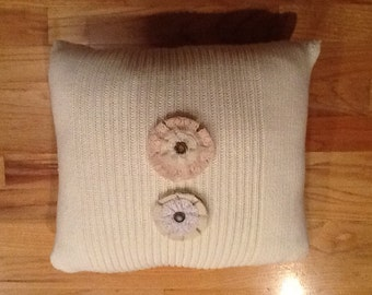 Vintage Look Sweater Pillow