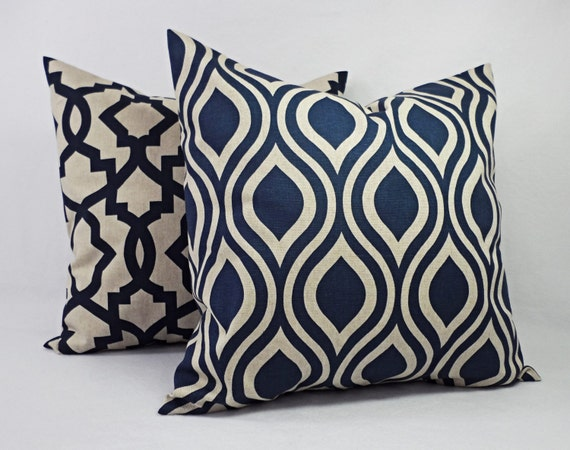 Decorative Pillow Blue And Beige Decorative By