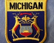 Michigan Flag Souvenir Travel Patch