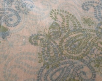 A  paisley print in blue and green fitted crib /toddler sheet