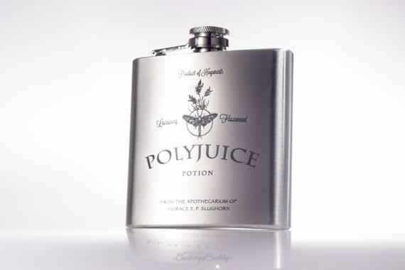 Polyjuice Potion inspired by Harry Potter -  6oz or 8oz Engraved Flask