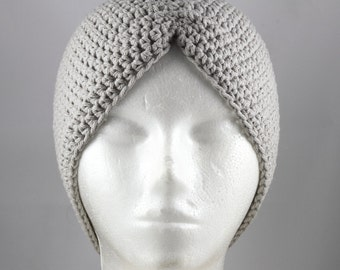 Stone Gray Turban Hat for Cancer Patients