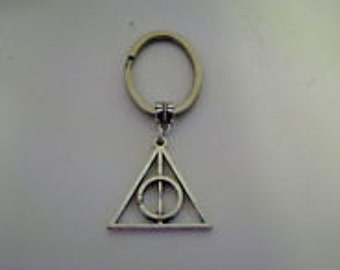 Harry Potter Silver Deathly Hallows Keychain