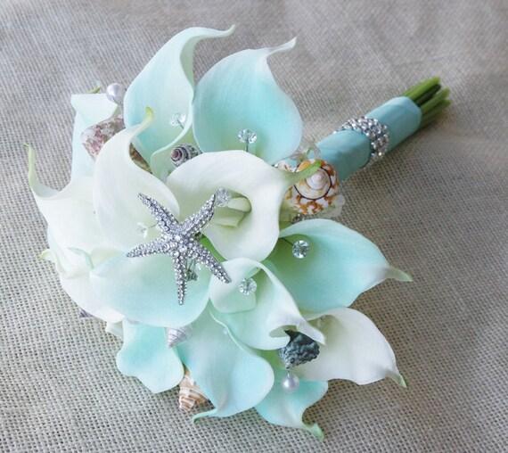spesso Seta fiore Bouquet da sposa uovo Calla Lilies tocco naturale XW19