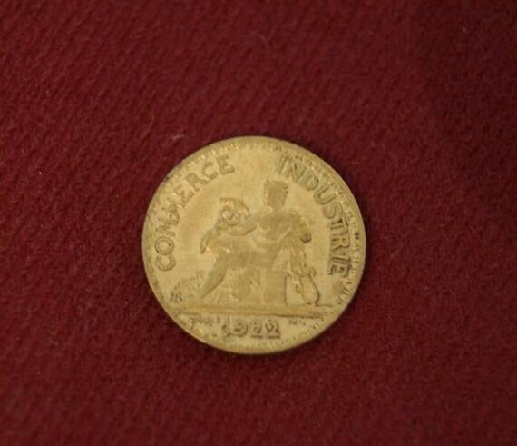 1922 french bon pour 50 centimes coin. Black Bedroom Furniture Sets. Home Design Ideas