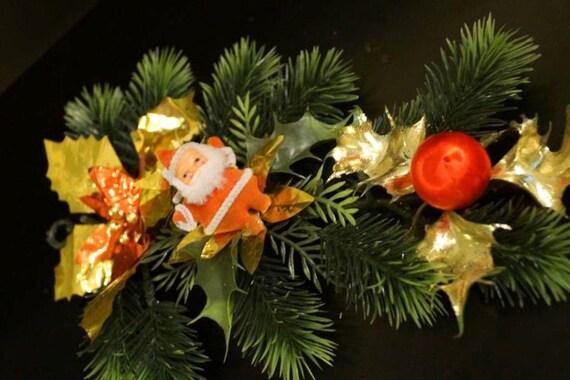 Vintage christmas floral garland