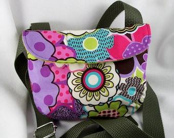 Cross Body Bag Cotton Purse Cell Phone Holder