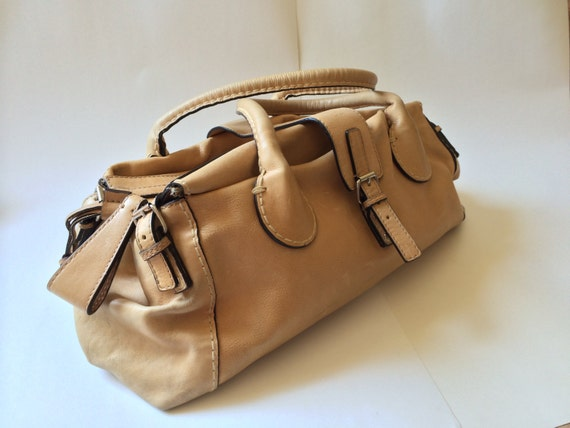 CHLOE EDITH shoulder handbag CHAMOIS beige by UNITEDVINTAGELOVERS