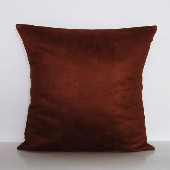 Brown Suede Pillow Cover Decorative Throw Accent Toss Lumbar