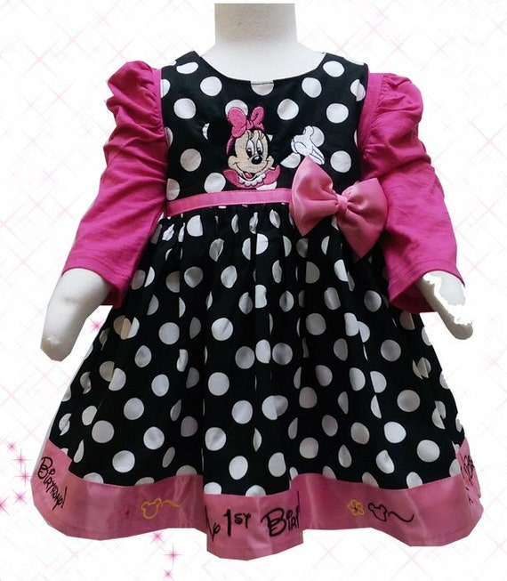 Carters Polka Dot Minnie Mouse First By MyFirstBirthdayDress