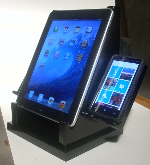 I Pad Stand Double Cell Phone Stand Charging Station Home